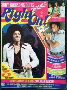 1976 Right On Magazine Sylvers Michael Jackson Jackson 5