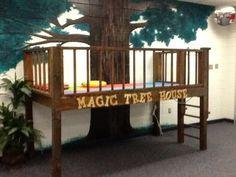Library loft. Where kids read.