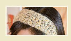 たった一つの編み方で、あっという間に出来上がり「ふわふわ毛糸のあったかヘアバンド」