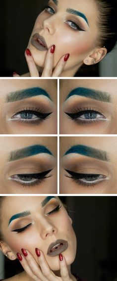 Makeup and Beauty: Todays look – Just like a heartbeat, a drumbeat ca...