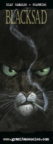 Guarnido : Marque page . Blacksad . noir.
