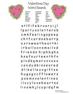 Valentine Word Find