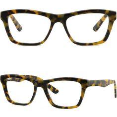 Square Mens Women Frame Spring Hinges Plastic Prescription Glasses Tortoiseshell #Unbranded