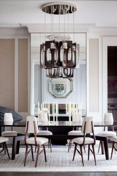 If you're a lover of comfortable modern decor we invite you to take a look at the following curated selection of 50 modern dining room design ideas. #luxurydiningroom