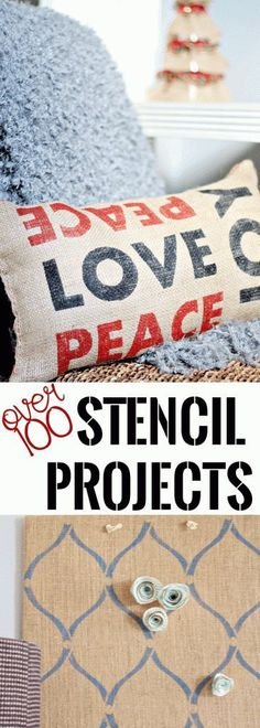 Over 100 AMAZING Stencil Projects that you'll want to try. Great stencil tutorials including stencils using freezer paper. Holiday projects and more! Craft Projects For Adults, Craft Activities For Kids, Diy Craft Projects, Craft Tutorials, Decor Crafts, Crafts For Kids, Diy Crafts, Freezer Paper, Diy Tutorial
