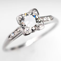 .75 Carat Diamond Antique Engagement Ring