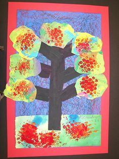 1st grade mixed media fall trees | Flickr - Photo Sharing!