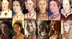 Historical paintings of Henry VIII's wives vs. the lovely ladies of the Tudors. Of course it's Queen Anne Boleyn forever for me.