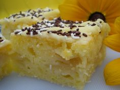 Citrónový koláč s hruškami (vic hrusek) * Cheesecake, Dairy, Pie, Treats, Sweet, Food, Lemon, Torte, Sweet Like Candy