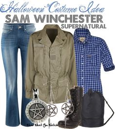 "It says for Halloween but I'd where it any day of the week! ""Inspired by Supernatural character Sam Winchester played by Jared Padalecki. Supernatural Costume, Supernatural Inspired Outfits, Supernatural Fashion, Supernatural Sam, Supernatural Halloween Costumes, Supernatural Clothes, Supernatural Convention, Casual Cosplay, Cosplay Outfits"