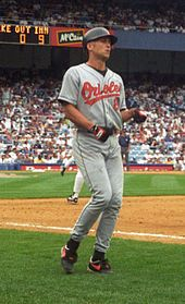 Cal Ripken, Jr., former baseball shortstop and third baseman who played 21 years in Major League Baseball for the Baltimore Orioles (1981–2001). Major League Baseball's World Record for most consecutive games played; 2632.