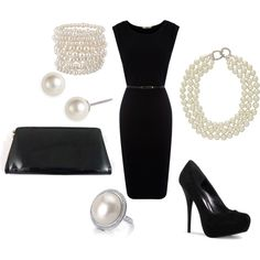 Little black dress, created by soccerfam93 on Polyvore