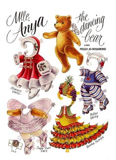 MLLE. ANYA from THE TEDDY BEAR AND FRIENDS PAPER DOLL by Peggy Jo Rosamond