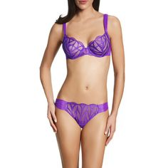 Implicite Fever Brief in Hot Purple (23 CAD) ❤ liked on Polyvore featuring intimates and panties