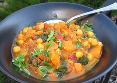 Sweet Potato Curry With Spinach And Chickpeas Recipe - Genius Kitchen