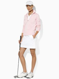 Long-Sleeved Clare Polo in Classic Pink - Ralph Lauren Golf Polos - RalphLauren.com
