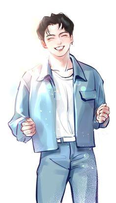 Bts Jungkook, Jungkook Fanart, Kpop Fanart, Bts Boyfriend, Anime Warrior Girl, Bts Cute, Bts Theory, Bts Birthdays, Photoshoot Bts