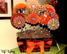 halloween scrapbook paper | Halloween Day 13: Vintage Inspired DIY Paper Centerpiece — Frog ...