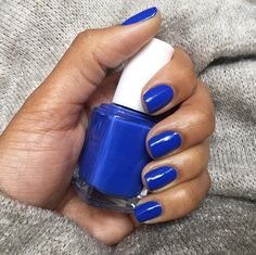 Escape to paradise with this frosty sapphire blue nail polish, butler please.