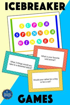 Icebreaker Games For Kids, Learning Games For Kids, Small Group Games, Small Groups, Ice Breaker Games, 5th Grade Classroom, Classroom Community, Back To School Activities, Educational Games