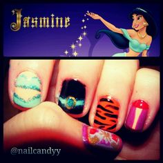jasmine #disney #nails