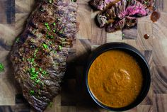 Grilled Skirt Steak with Chimichurri Recipe by Milagros Cruz - The Daily Meal