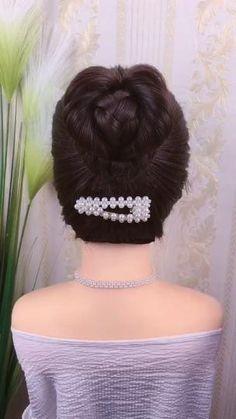 Hairstyle Braid, Braided Hairstyles Updo, Braided Updo, Party Hairstyles, Homecoming Hairstyles, Hair Updo, Front Hair Styles, Medium Hair Styles, Hair Style Vedio