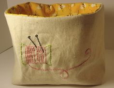 feeling stitchy: 6/17/14: Thread Catcher Basket