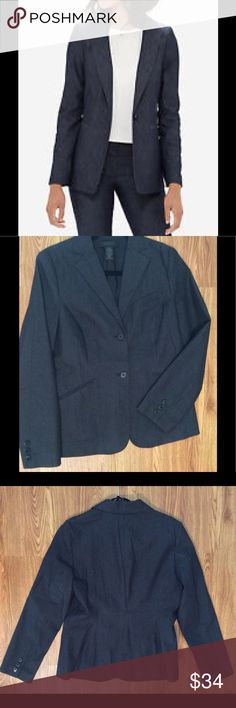 The Limited Blue Stretch Blazer Size M, excellent used condition, Stretch Denim-like fabric The Limited Jackets & Coats Blazers
