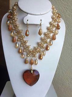 Imagen relacionada I Love Jewelry, Simple Jewelry, Jewelry Sets, Diy Jewelry, Beaded Jewelry, Vintage Jewelry, Handmade Jewelry, Fashion Jewelry, Beaded Necklace