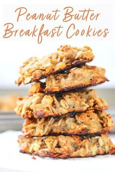healthy cookies These vegan Peanut Butter Banana Breakfast Cookies have no sugar added and take just 3 ingredients to make. These gluten-free cookies are made with oats and overripe bananas for the perfect grab and go breakfast or healthy snack. Healthy Breakfast Recipes, Healthy Baking, Brunch Recipes, Healthy Recipes, Vegan Breakfast, Healthy Breakfast Cookies, Grab And Go Breakfast, Recipes With Bananas Healthy, Healthy Banana Cookies