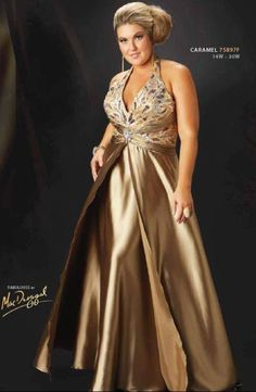 PLUS SIZE FORMAL WEAR | Dare to say that this would be a stunning gown ever, nice in beaded ...