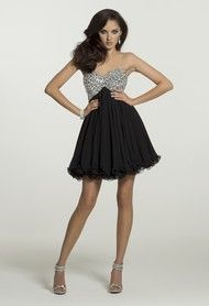 Homecoming Dresses - Strapless Jeweled Dress