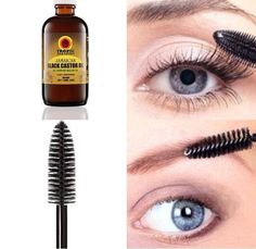 Using castor oil to grow eyebrows and eyelashes