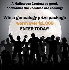 Halloween Giveaway – Win a $1,000 Genealogy Bundle