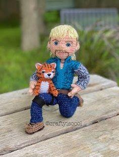 PAID - Tiger King Crochet Doll Pattern, Crochet Patterns Amigurumi, Crochet Dolls, Baby Elephant Ears, Tiger Pattern, Crochet Round, Custom Dolls, Toys, Puppets