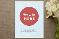 We are Here Moving Announcements by Wondercloud Design at minted.com