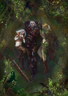 Geralt, Ciri and Braenn. The Sword of Destiny.