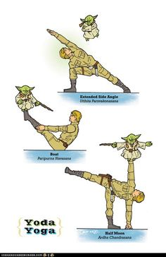 Yoda & Luke Skywalker Yoga Poses