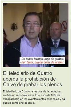 """Rafael Calvo: """"Los socialistas vuelven a mentir: los Plenos está permitido su grabación"""""""