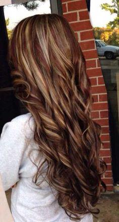 Highlighted Dark Blonde Long Hair