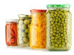 There are many different types of pickles, including dill pickles, sweet pickles, and bread and butter pickles. Mason Jar Meals, Canning Jars, Canning Recipes, Types Of Pickles, Bread & Butter Pickles, Kinds Of Vegetables, Sweet Pickles, Salad Bar, Vegan Snacks