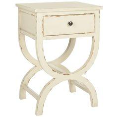 Safavieh Maxine Disstressd Vanilla End Table ($151) ❤ liked on Polyvore…