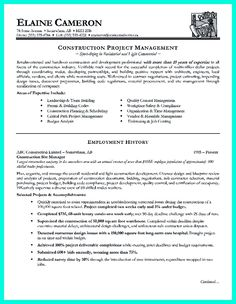 cool simple construction superintendent resume example to get applied check more at http resume examplesresume writingconstruction