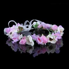 ihomecoming.com SUPPLIES  Fresh Stunning Flower High-Grade Manual Bridal Garland  Hair Flowers