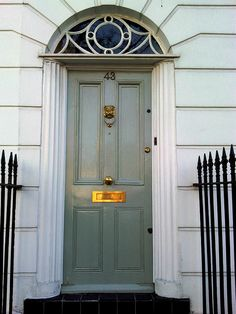 London Front Door Blue Gray