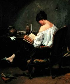 Reading and Art: André Fontaine, Girl reading by candlelight How To Read People, Book People, Reading People, Reading Art, Woman Reading, Reading Books, I Love Books, My Books, Arte Fashion