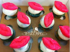 Lips popper cupcakes for a Bachelorette Party | Blue Note Bakery - Austin, Texas