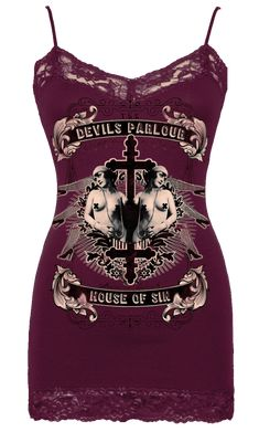 Womens House of Sin Cami Vintage plum 2000s Fashion, Teen Fashion Outfits, Grunge Outfits, Look Fashion, Fashion Design, Fashion Boots, Fashion Dresses, Womens Fashion, Pretty Outfits