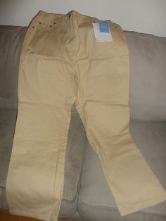 Womens New Denim & Co. Classic Tan pants size XL. Find me at www.dandeepop.com